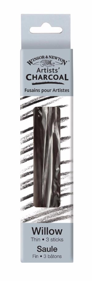 Ritkol Winsor & Newton Willow charcoal thin 3p
