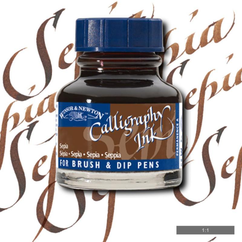 Tusch Calli Ink Winsor & Newton 30ml  Sepia 609 (3F)