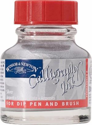 Tusch Dip Ink Winsor & Newton 30ml Silver (metallic) 617 (3F)