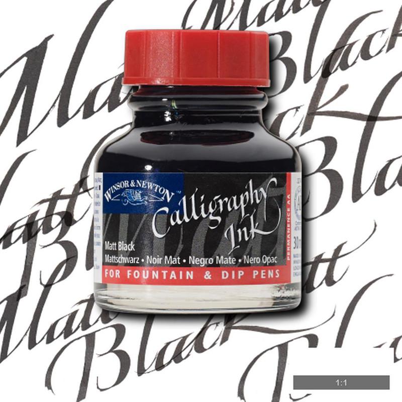 Tusch Dip Ink Winsor & Newton 30ml Black  030 (3F)