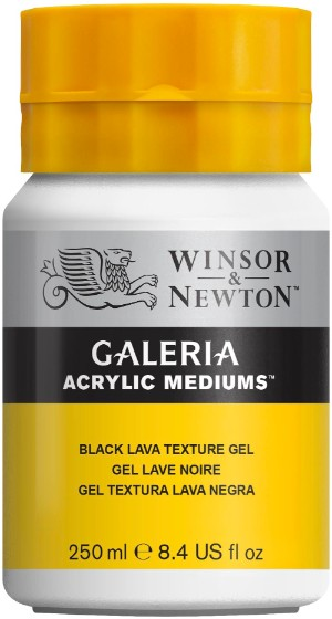Akrylmedium Galeria Texturgel sv.lava 250 ml Black Lava Texture Gel