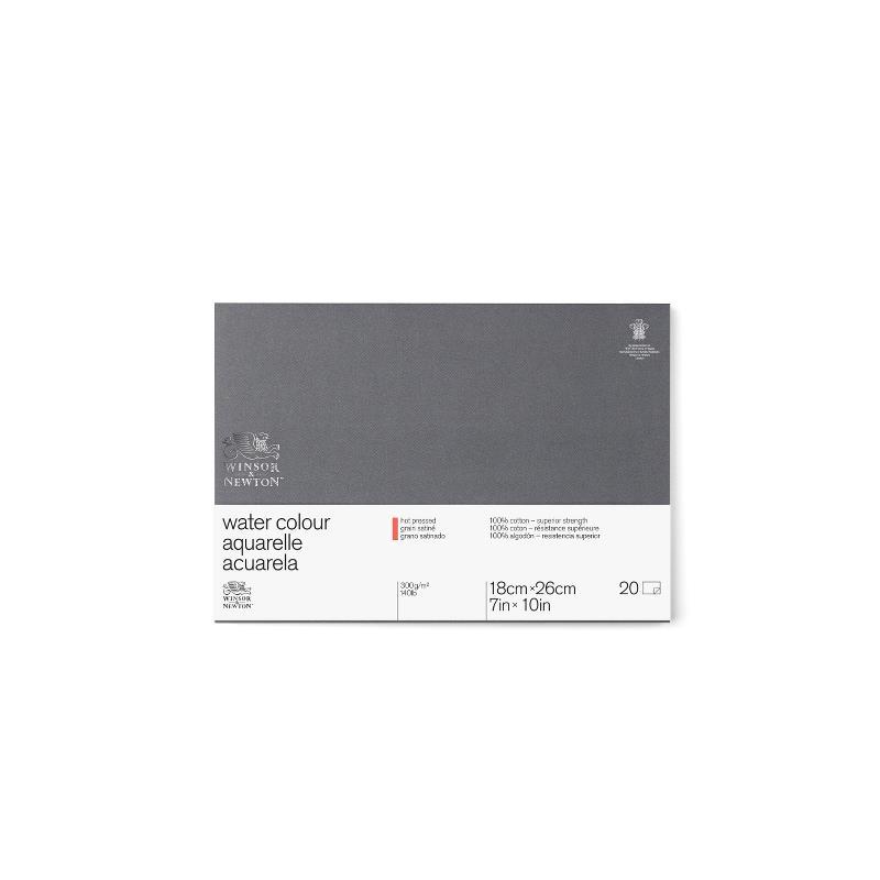 Akvarellblock Winsor & Newton Premium Hot Press 300g 26x36cm 20ark