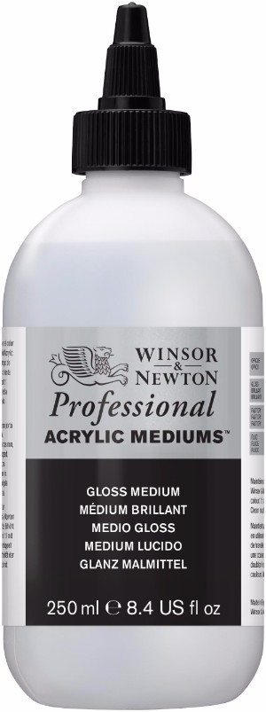 Akrylmedium Winsor & Newton Prof. AA Gloss Medium 250 ml