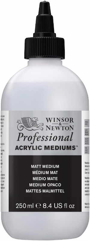Akrylmedium Winsor & Newton Prof. AA Matt Medium 250 ml