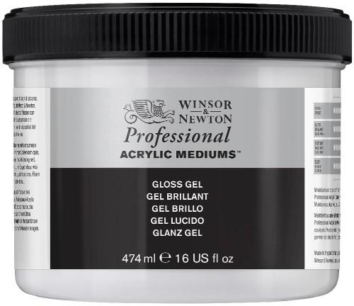 Akrylmedium Winsor & Newton Prof. AA Gloss Gel 474 ml