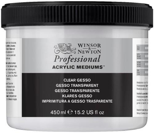 Akrylmedium Winsor & Newton Prof. AA Clear Gesso 450 ml