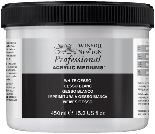 Akrylmedium Winsor & Newton Prof. AA White Gesso 450 ml