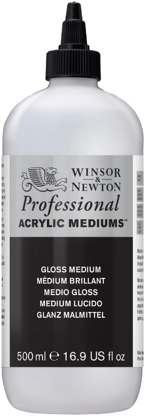Akrylmedium Winsor & Newton Prof. AA Gloss Medium 500 ml