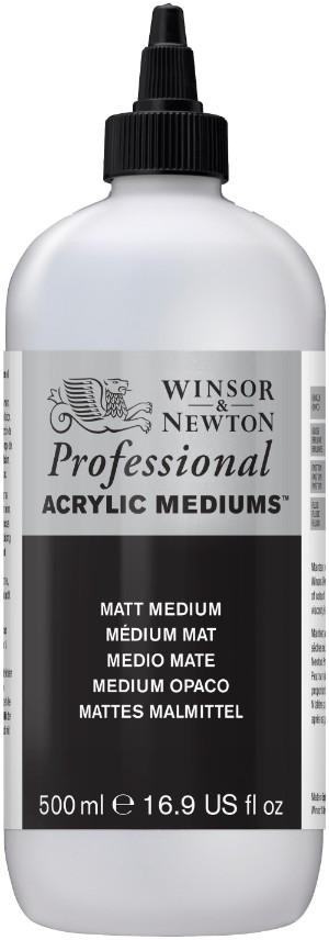 Akrylmedium Winsor & Newton Prof. AA Matt Medium 500 ml