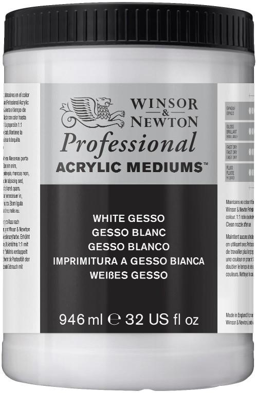 Akrylmedium Winsor & Newton Prof. AA White Gesso 946 ml