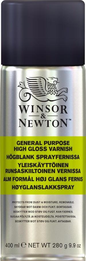 Fernissa Winsor & Newton Högblank sprayfernissa (6F)
