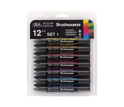 Brushmarkerset Winsor & Newton 12 Vibrant