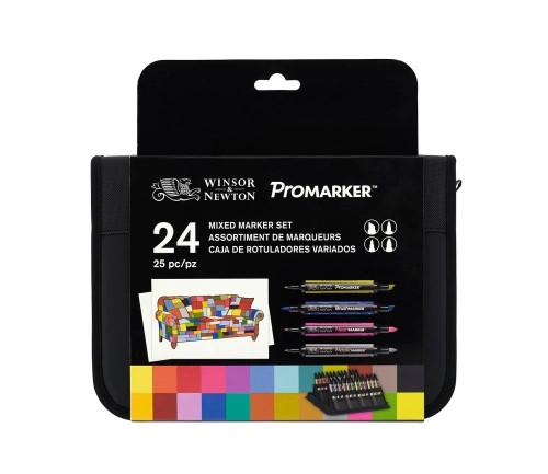 Brushmarkerset Winsor & Newton Mixed Marker Set 24 st