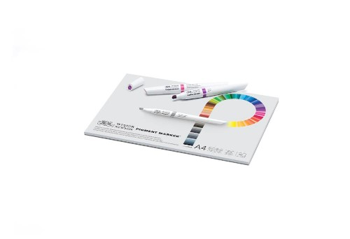 Markerblock Winsor & Newton Pigment marker A4 75g 50ark