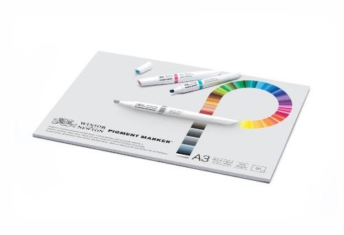 Markerblock Winsor & Newton Pigment marker A3 75g 50ark