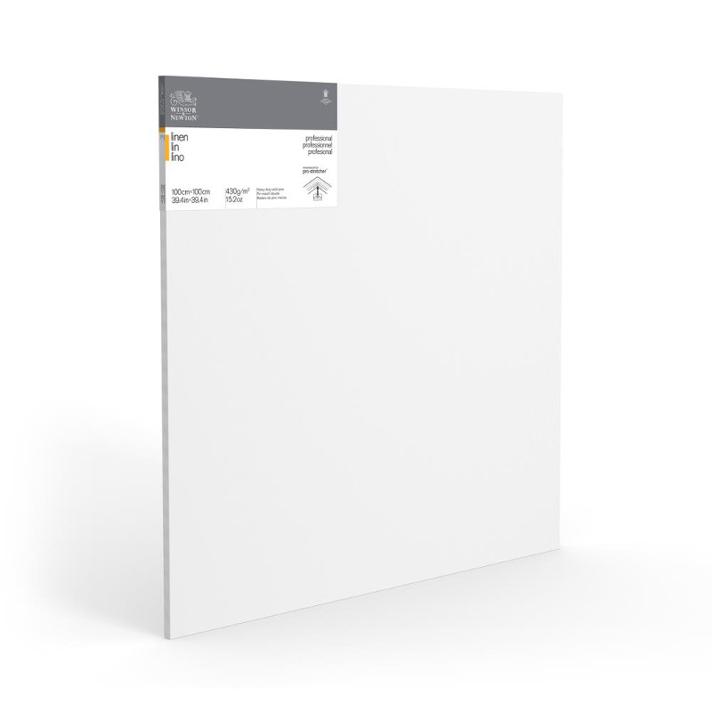 Duk uppspänd W&N Linne 100X100X2,1cm  (5F)