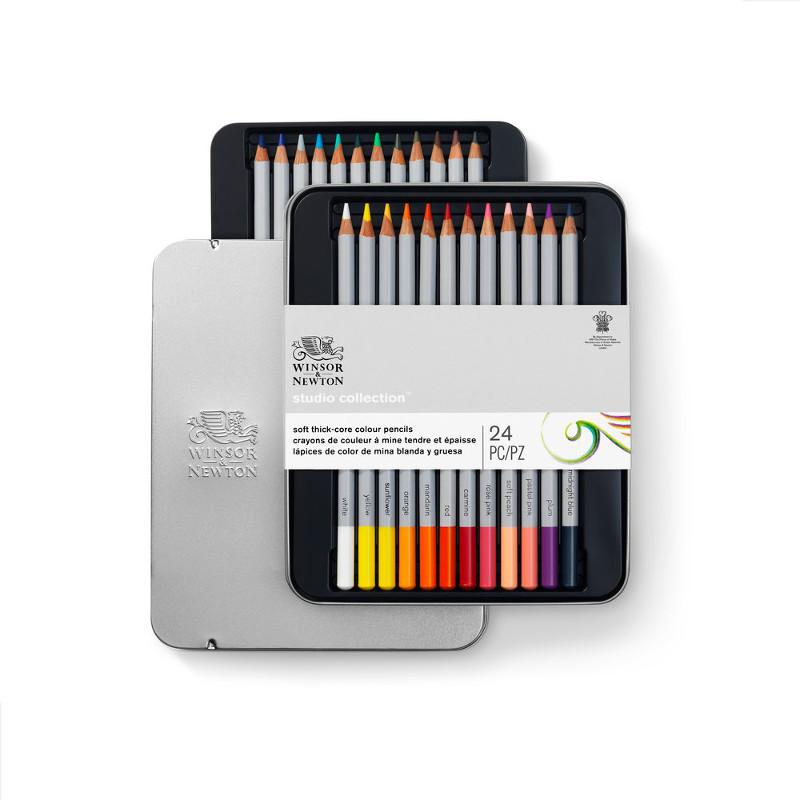 Färgpennset Winsor & Newton 24 sorterade