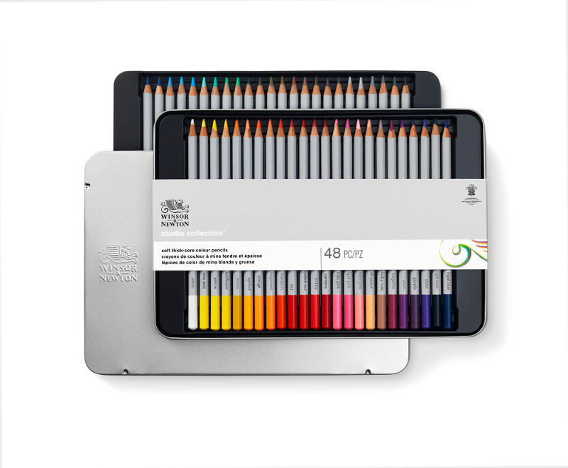 Färgpennset Winsor & Newton 48 sorterade