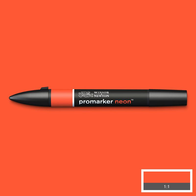 Promarker Winsor & Newton neon spark red