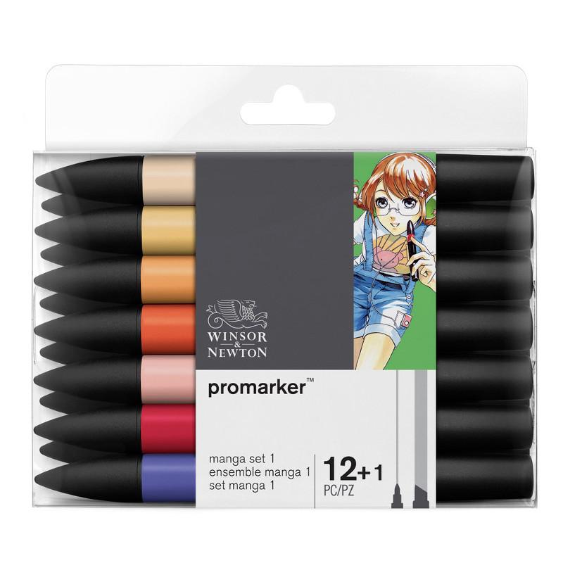 Promarkerset Winsor & Newton 12+ 1 Manga expansionspack 1 0290051