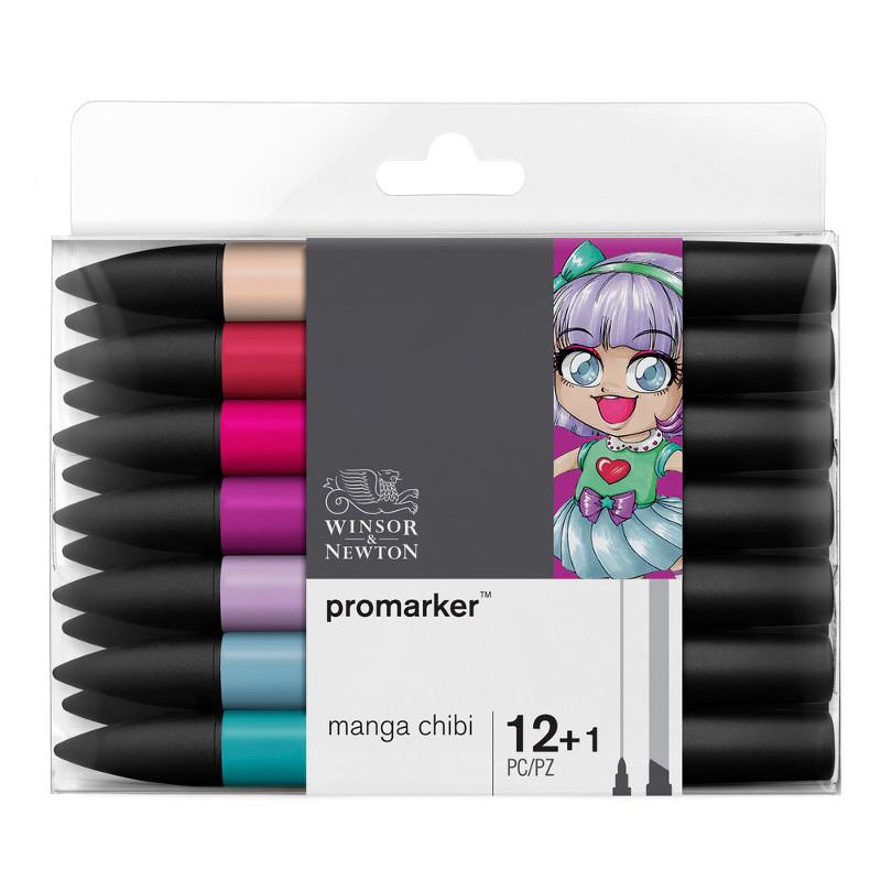 Promarkerset Winsor & Newton 12+ 1 Manga chibi 0290054