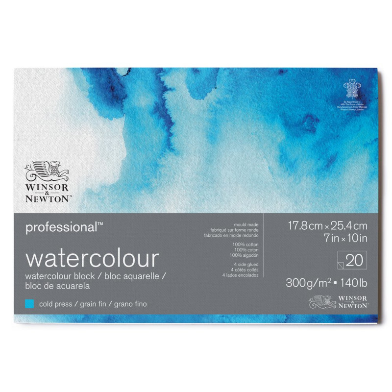 Akvarellblock Winsor & Newton Premium Cold Press 300g 18x26cm 20ark