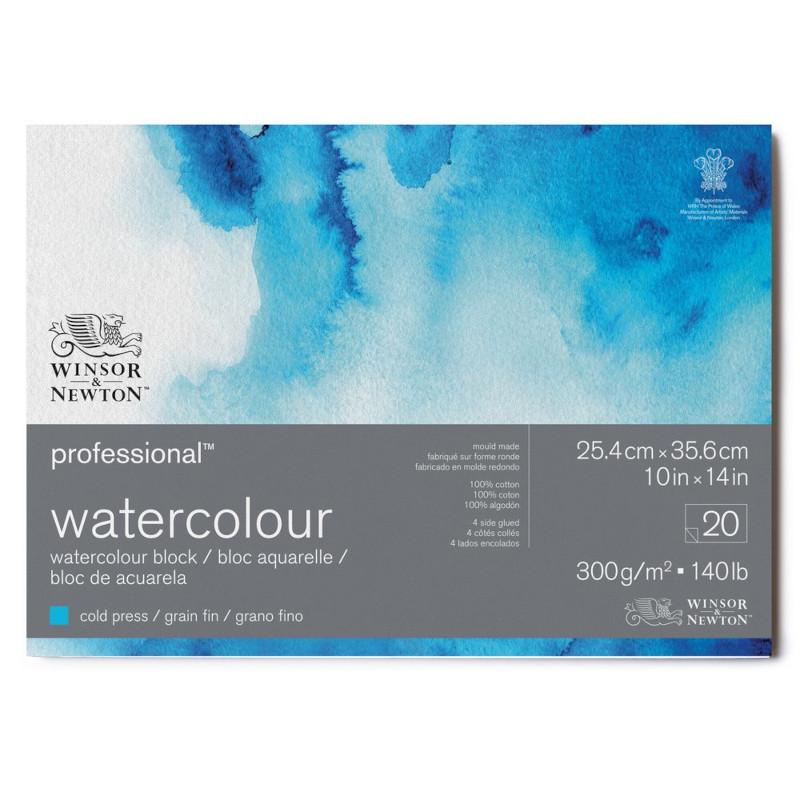 Akvarellblock Winsor & Newton Premium Cold Press 300g 26x36cm 20ark