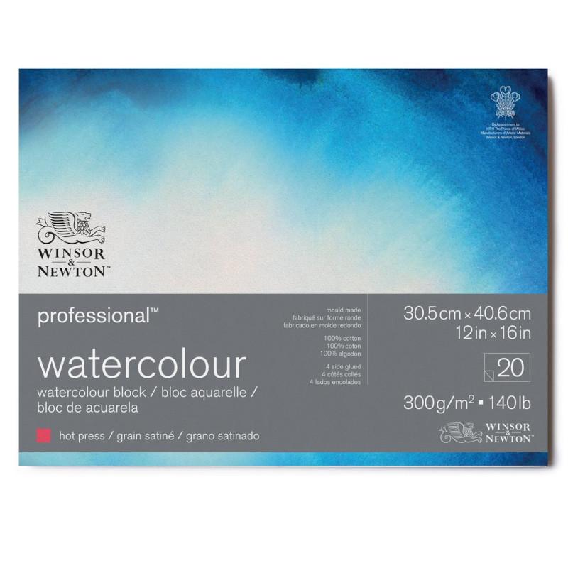 Akvarellblock Winsor & Newton Premium Hot Press 300g 31x41cm 20ark