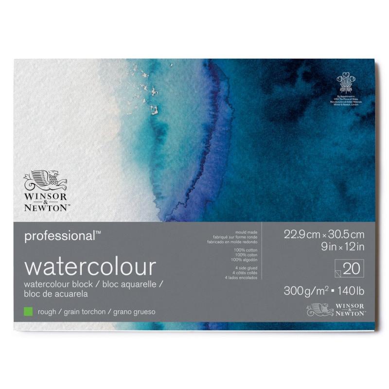 Akvarellblock Winsor & Newton Premium Rough 300g 23x31cm 20ark