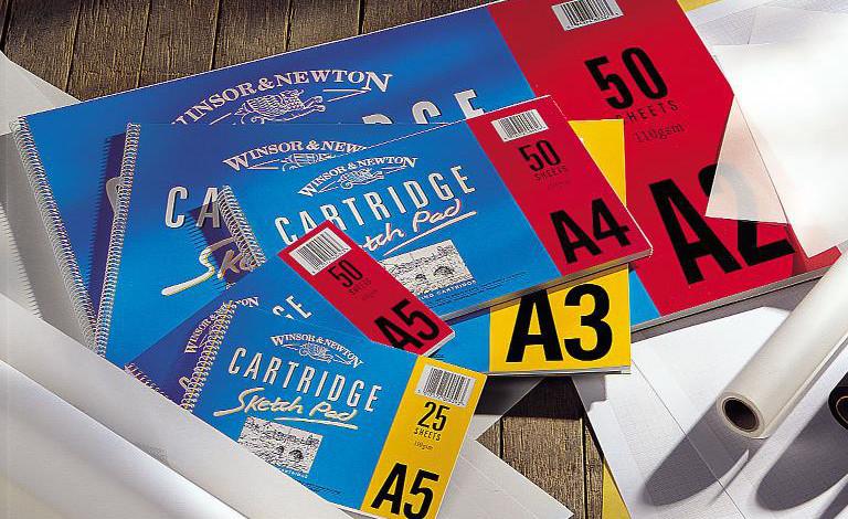 Skissblock Winsor & Newton Sketch Pad 110g A2 Spiral 25ark (5F)